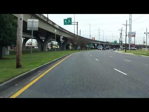 Westbank Expressway (Interstate 910/US 90 BUSINESS Exit 8) westbound/inbound