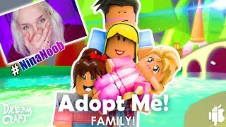 the first time ROBLOX with Nina - you want my mom be? Adopt me! Please #NinaNoob