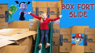 Paw Patrol Ultimate Slide Box Fort Golden Surprise Egg with the Assistant and PJ Masks