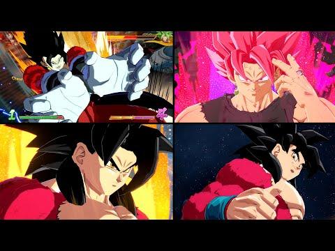 Xeno SSJ4 Vegito, Xeno SSJ4 Goku, & SSRE Goku Black Gameplay [MOD] | Dragon Ball FighterZ
