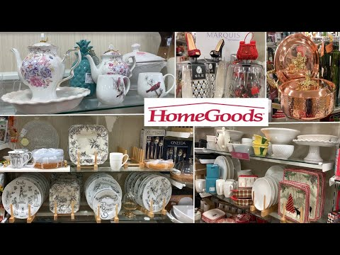HomeGoods Kitchen Home Decor | Dinnerware Table Decoration Ideas | Shop With Me 2019