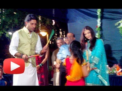 Aishwarya Rai Plays Dandiya With Abhishek Bachchan