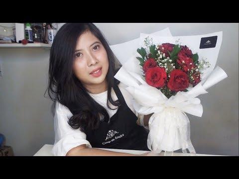 SPECIAL HOLIDAY! Cara Merangkai Buket Bunga Mawar Merah / How to Make Red Roses Flower Bouquet