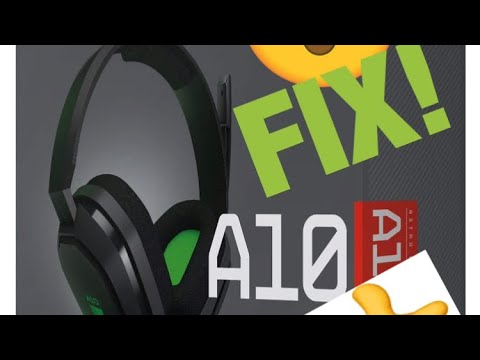 How to fix the Astro a10 mic/headphone not working!