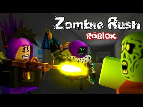 АРМИЯ ЗОМБИ Приключения мульт героя ROBLOX в игре Zombie Rush видео для детей от Funny Games TV