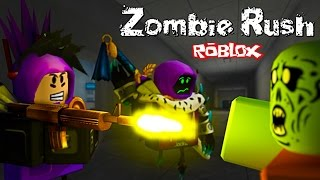ARMY of ZOMBIE Adventure cartoon hero in ROBLOX game Zombie Rush videos for kids from Funny Games TV