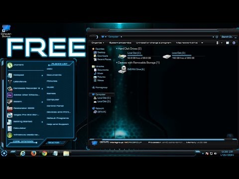 Free Hud Premium Awesome Blue Windows 7 Theme