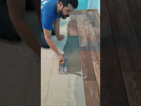 DIY how to lay porcelain tiles