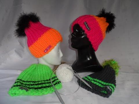 # STRICKEN:Coole KeKa Mütze; simpel gestrickt -MÜTZE stricken,auch für Anfänger TOP!