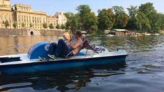 Cruise At river Vltava in The Prague with my Brather David 2017