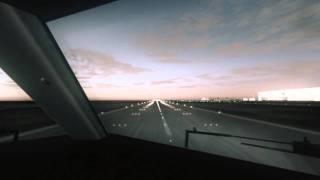 FireFly B737-800 KLIA Dusk Approach [HD]