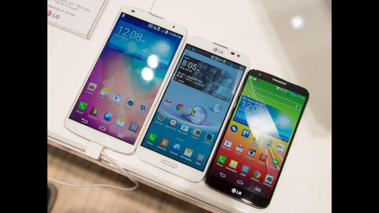 LG G Pro 2 vs LG Optimus G Pro vs LG G2