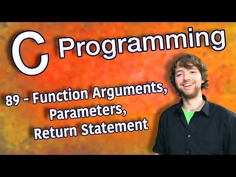 C Programming Tutorial 89 - Function Arguments, Parameters, Return Statement thumbnail