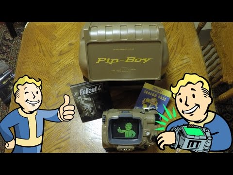 Fallout 4 Pip Boy Edition Unboxing Pocket Guide, Vault Tec Perk Poster - Biki Unboxing