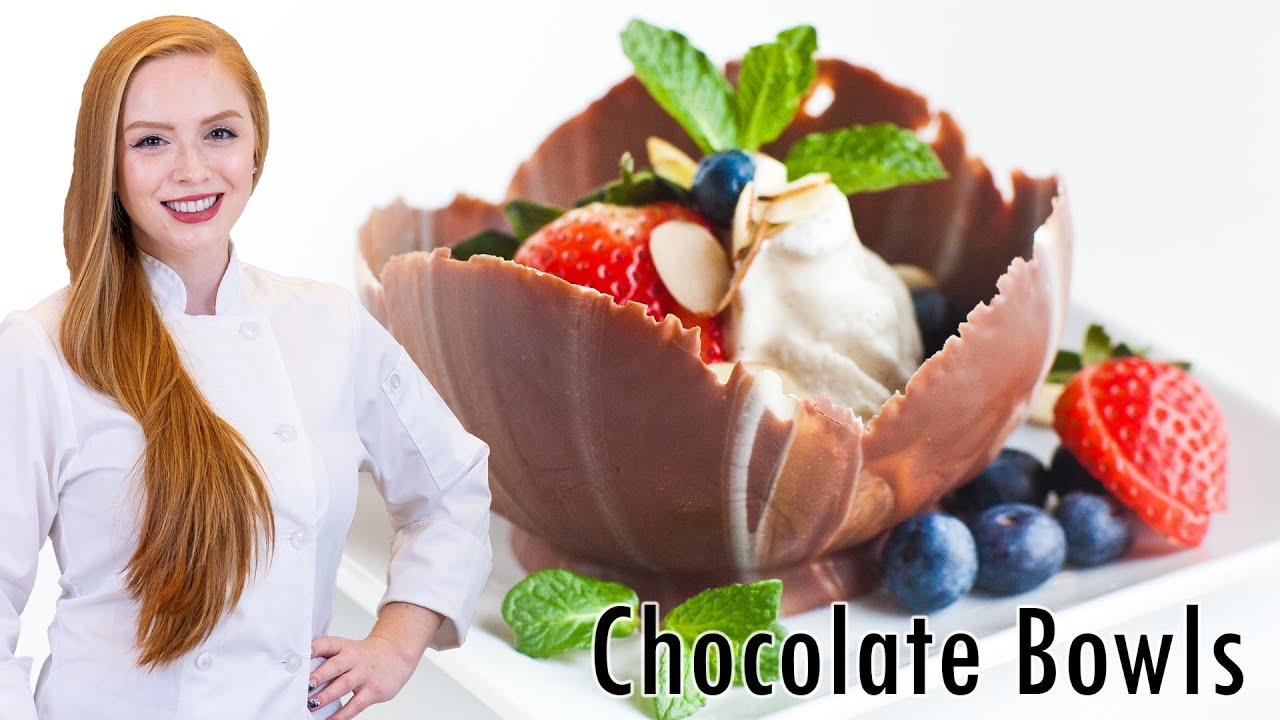How to make chocolate dessert bowls youtube