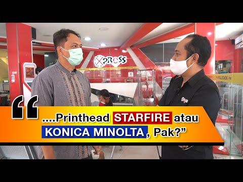 Perbandingan Printhead Starfire dengan Konica Minolta menurut Nurdin Effendi (Xpress Print)