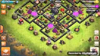 Clash of clans- Ataque de gowipe num cv 7 full !!!!