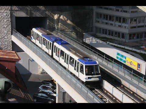 [Video] U-Bahnlinie M2 der Transports publics de la région lausannoise (TL), Lausanne