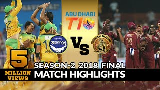 Final Match, Northern Warriors vs Pakhtoon, T10 League Season 2