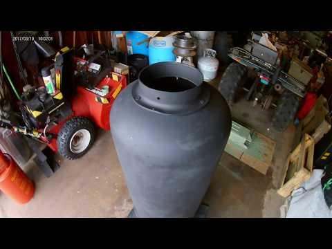 Propane tank wood stove easy build no welding video
