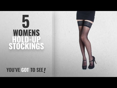 bc2d0bf148 Top 10 Womens Hold-Up Stockings [2018]: NEW Lace Top 20 Denier Sheer Hold  Ups Stockings 17 Various - YouTube