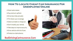 Compare Car Insurance Quotes For The Unemployed Drivers   Save Big On Auto Insurance