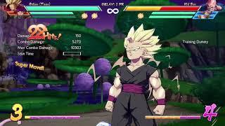 Dragon Ball FighterZ - Teen Gohan + Tien (assist) Super Spirit Bomb combo