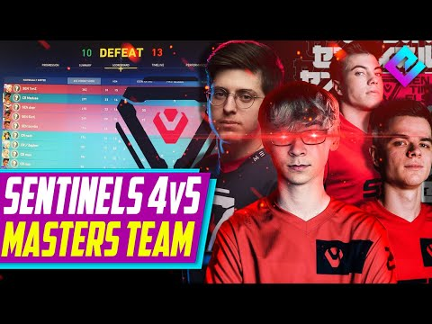 Sentinels and TenZ 4v5 a Team AT ICELAND