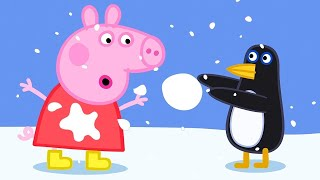Peppa Pig Full Episodes | Peppa Pig Plays with Penguins at the South Pole | Kids Video