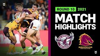 Sea Eagles v Broncos Match Highlights   Round 10, 2021   Telstra Premiership   NRL