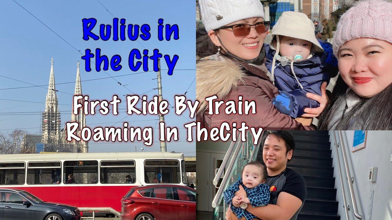 First Ride  Rulius  By Train Travelling To Vienna#wien#viennadaytour#viennainternationalcenter(VIC)