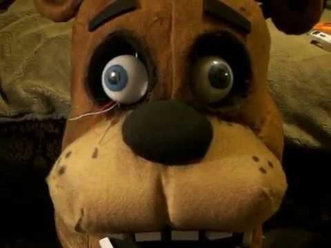 working freddy fazbear mascot head youtube