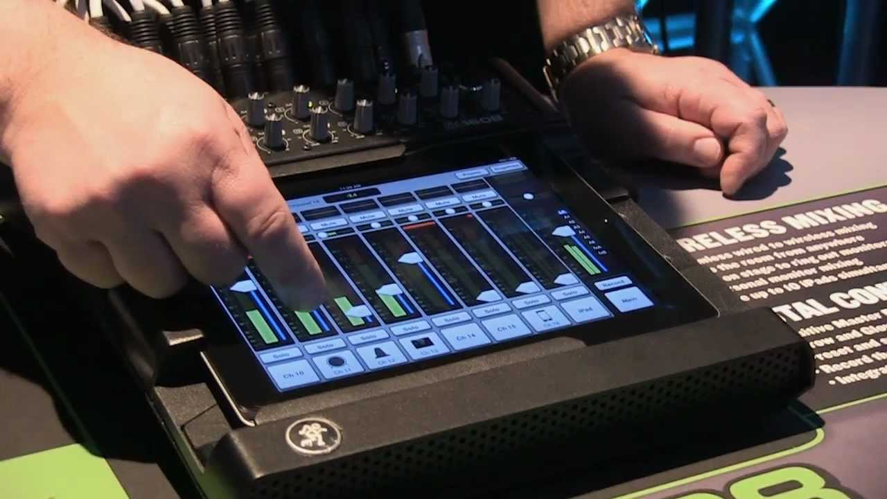 mackie dl1608 ipad interface digital mixer review youtube. Black Bedroom Furniture Sets. Home Design Ideas