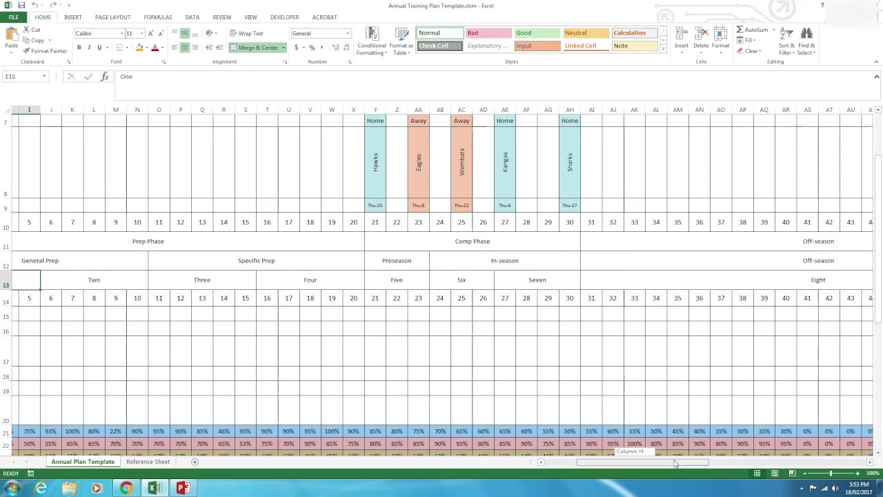 Annual Plan How To Use The Excel Template Youtube