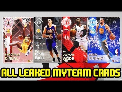 ALL LEAKED MYTEAM CARDS AND RATINGS! LONZO BALL, 99 SHAQ NBA 2K18!