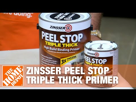 Zinsser Peel Stop Triple Thick Primer The Home Depot Youtube