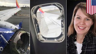 Woman sucked from plane mid-flight after engine explosion - TomoNews