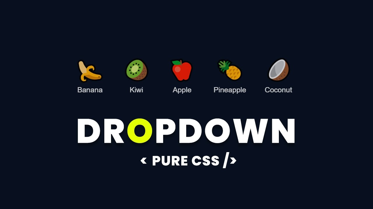 Pure CSS Creative Dropdown Menu - Latest Website Design Tutorial