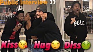 KISS, HUG, OR DISS | Public Interview