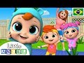 Cabeça, Ombro, Joelho e Pé em Ritmo Acelerado! | Vídeo Infantil | Little Angel Português