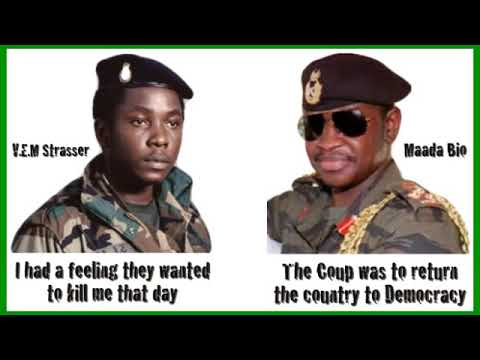 Brigadier Julius Maada Bio and Captain VEM Strasser, former  heads of state of The Republic of S.L