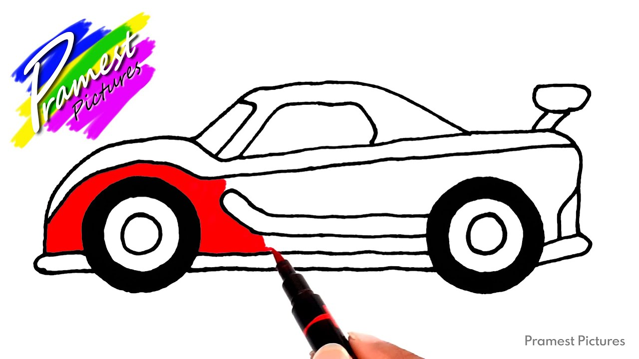 Mobil Balap Cara Menggambar Dan Mewarnai Gambar Untuk Anak Youtube