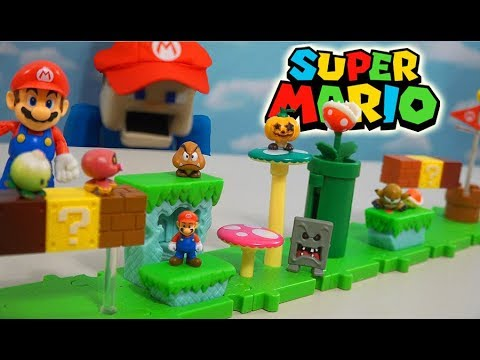 Super Mario Bros U Micro Playset?! World of Nintendo Acorn Plains Figure Unboxing