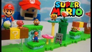 Super Mario Bros U Micro Playset?! World of Nintendo Acorn Plains Figure Unboxing
