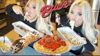 Buca di Beppo Eating show (MUKBANG) | WATCH ME EAT