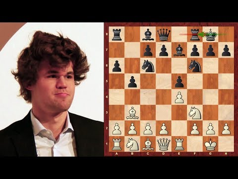 Amazing Chess Game: Magnus Carlsen vs Levon Aronian : determination! : Sinquefield Cup (2013)