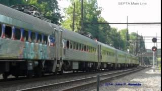 SEPTA Scrap Train Jenkintown PA June 26 2014