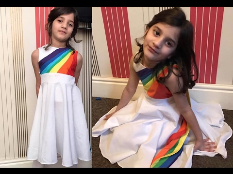 How To Make Rainbow Dash Dress. DIY. My Little Pony. XO