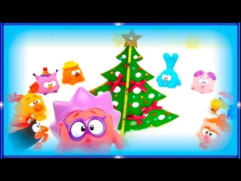 Мультики про Новый Год для самых маленьких детей. Машинки. Смешарики. Свинка Пеппа. Октонавты