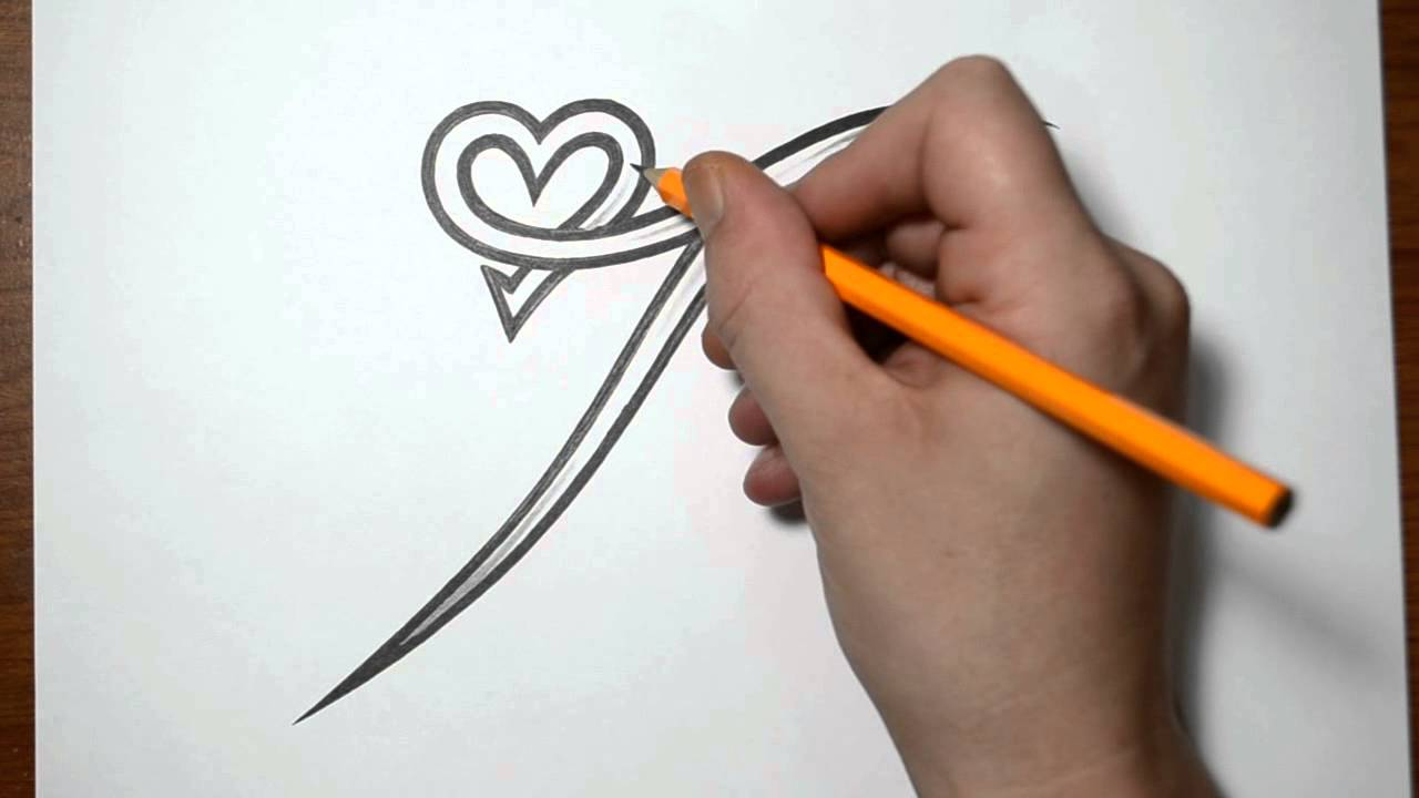 Letter I With Heart Tattoo Designs